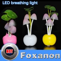 3LED Nightlight EU US Plug Electric Induction Dream Mushroom Fungus Lamp Mushroom Lamp home decor led RGB breathing Night light