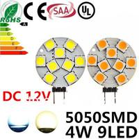 10pcs/lot White/Warm White 9LED Led Lamp G4 5050 Bulb Light 9SMD 5050 DC12V 4W 400Lumen Lamp G4 5050 Bulb Lamp Free Shipping