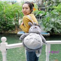 Super cute 1pc 50cm cartoon creative Miyazaki Hayao fat totoro plush backpacks girl shoulder bag children toy baby gift for kids