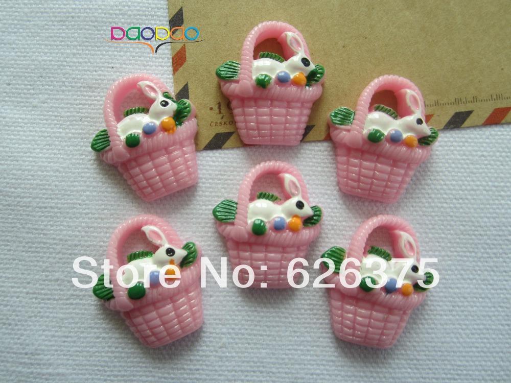 Easter Baskets Wholesale Prices 30pcs Lot Wholesale Easter Basket Resin Flatback Flat Back Cabochons For