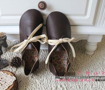 Бесплатная доставка 2015 новый кожаная обувь чистая ручной работы, женщины кожаные ...