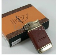 Honest Honest genuine leather flame pipe lighter metal lighter   is  not   windproof