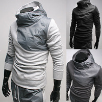 2014 Splice design men's sportswear short sleeve Hot hooded sweater Free Shipping 126136