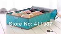 2014 New High Quality 2 Colors 7 Grid  Underwear Socks Ties Bra Divider Organizer Lidded Closet Wardrobe Storage Box.A24