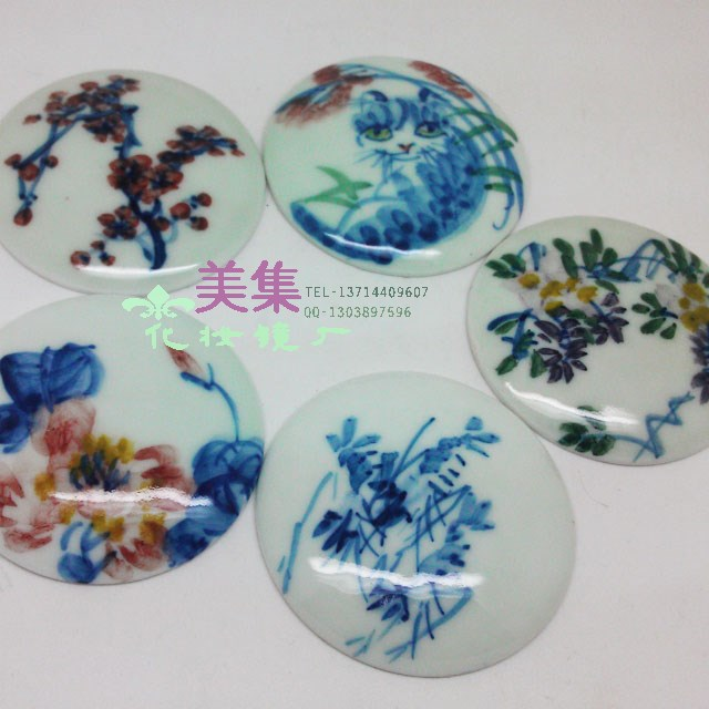 Diy personalized pattern diy accessories jingdezhen ceramic material panel pattern(China (Mainland))