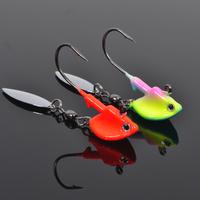 Free shipping,10bag/lot,  luminous fish-shaped lead head hook rotating paillette soft lure hook