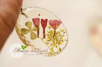 Mangohandmade . flower gem 30x40 pendant handmade diy material