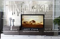 3x3cm Mosaic  Acrylic crystal 3D wall stickers mosaic mirror sofa wall stickers fashion 50 pcs Free shipping to USA