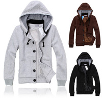 Free shipping 2014 Spring autumn new hoodiesFleece hooded sweater modified oblique pocket inside fashion wild M-XXL
