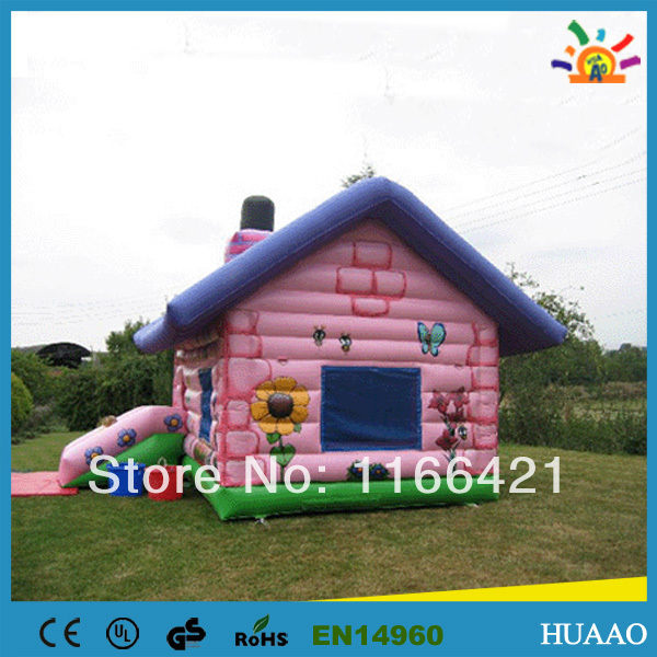 0.55 PVC commercial bounce houses with free CE/UL blower and repair kit(China (Mainland))