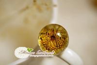 Mangohandmade . flower gem crystal ball beads