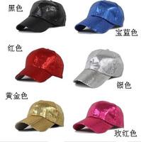 New 2014 Hip-hop cap performance cap dance paillette hat cap fedoras costume costumes hat hip-hop 10pcs/lot ,free shipping