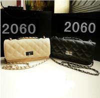 2013 small bags plaid chain bag fashion black mini women's handbag messenger bag small bags