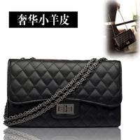 Women's handbag vintage ladies sheepskin plaid one shoulder cross-body small sachet fashion shell bag