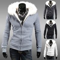 Free shipping 2014 Spring autumn new hoodiesCottonShort fleece sweater M-XXL
