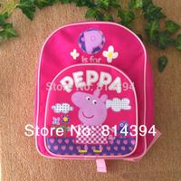 New 2014 Hot Sale 1pcs Peppa Pig Bag Kid Boy Girl Children's School Bags Backpacks Schoolbag Backpack Peppa Pig Free Shipping
