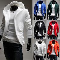 Free shipping 2014 Spring autumn new hoodiesHit Large cap design men's sweater jacket  M-XXL
