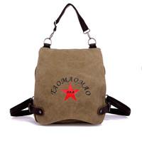 vintage canvas backpack school bag multi-purpose More color fashion bag