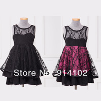2014 Hot Sale Korea Fashion Baby Gilrs dress Summer lace Backless tutu dress kids Flower Princess Dresses 2-6years ZHD-0001