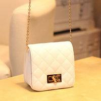 New arrival 2014 small sachet plaid chain bag fashion mini women's handbag messenger bag small bags