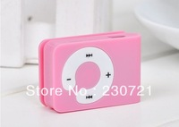 50pcs Card Reader mini Clip mp3 player support micro sd TF card with earphone + usb DHL Free shipping