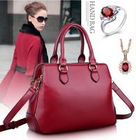 women leather handbags 2014 new fashion casual women messenger bags European and American fashion portable shoulder bag handbags