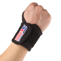 2014 New Arrival Time-limited Free Shipping Sports Elastic Stretchy Wrist Joint Brace Support Wrap Band Thumb Loop - Black