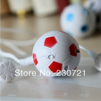 50pcs Cartoon mini MP3 Player with Micro TF/SD card Slot with earphone & usb Football design newest free shipping