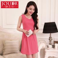 2014 spring women's one-piece dress summer sleeveless vest one-piece dress plus size clothing fashion summer dress