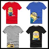 camisa Despicable Me Minions cartoon man fitness minion t shirt man summer 2014 summer new T-shirts BLUSAS masculinas brand geek