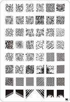 XL-N nail art stamping palte template