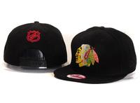 Blackhawks nhl chicago black hawks baseball cap flat brim adjust  snapback hiphop hat  drop shipping free sports hats