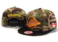 Nhl hats vancouver canucks snapback adjust cap baseball cap fashion cap drop shipping free