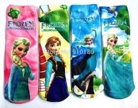12 pairs/lot kids cartoon Frozen Anna and Elsa cotton socks children cartoon socks boys and girls cartoon socks