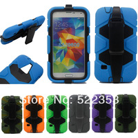 For Samsung S5 i9600 Waterproof Shockproof Dirtproof Belt Clip Armor Military Duty Case