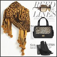 New High Quality Leopard Print Scarf Women Shawls Brand Scarfs Designer Tassel Scarves Wraps Free Shipping A3607
