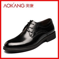 2014 male leather business formal shoes japanned leather fashion genuine leather single shoes low-top shoes man boots