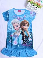 2014 hot! Frozen dresses Princess cute girl summer dress Elsa dress Anna clothes popular dress High quality