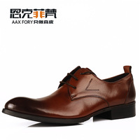 2014 business formal man genuine leather shoes male shoes fashion european pointed toe single shoes wedding shoes man Oxfords