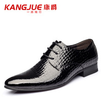 Autumn genuine leather male trend of casual shoes formal business pointed toe  shoes fashion man boots