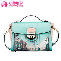 Circleof bag vintage 2014 preppy style color block one shoulder cross-body the trend of female bags x1338