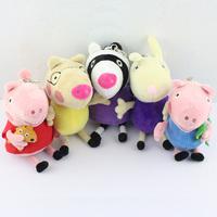 Free Shipping 5pcs/set Peppa Pig Family Peppa Pig Friends peppa pig Friend  zoe pedro richard peppa george