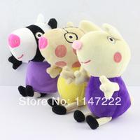Free Shipping 3pcs/set Peppa Pig Family Peppa Pig Friends peppa pig plush peppa pig Friend zoe pedro richard