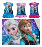 Frozen Girl Elsa & Anna Princess Girl Dress New 2014 Girl Clothing Girl Party Dress Kids Clothes Children Clothing 3-8 Years