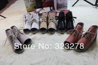 Free shipping 2014 hot new high-end fashion Women pure sheepskin leisure shoes with flat sole with flat sole