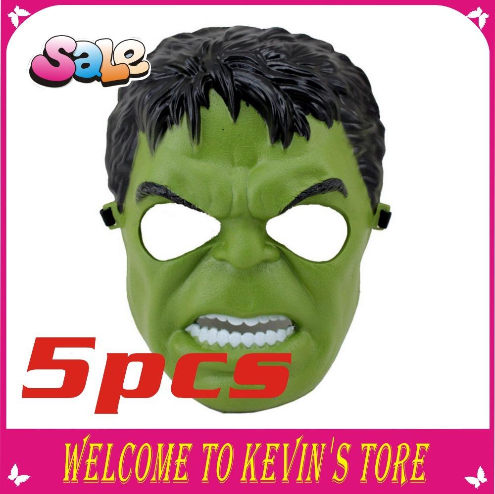 nova chegada hulk halloween máscara máscara cosplay preto e verde partido máscara 5 pcs/atacado(China (Mainland))