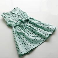 New! Wholesale Summer Child girl  Soft  Dot Sweet Cute Baby girl Dress Cotton Casual Children Girl Dress   Kids Dress