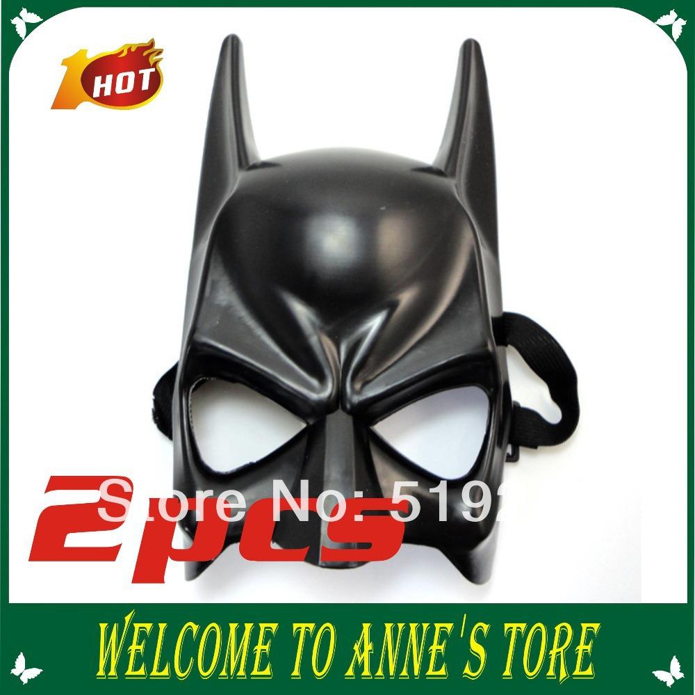 2014 Chegada Nova Pvc Halloween & Black Party Batman Máscara Masquerade herói Máscara Facial 2pcs Máscara Cosplay / atacado(China (Mainland))