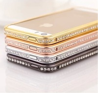 For iPhone 5 5s Case Stone Diamond Metal Cover Luxury Fashion For Apple iPhone5 iPhone5s Birthday Gift Present Hot Wholesale