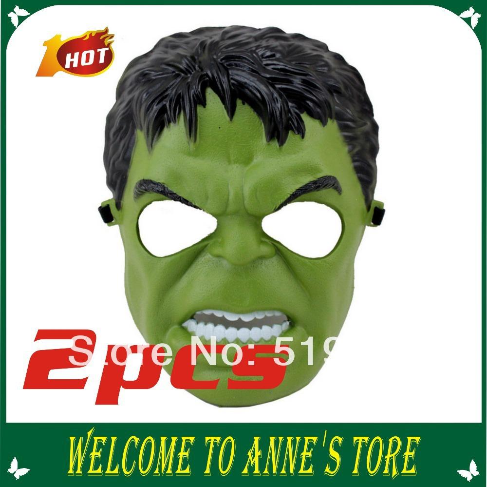nova chegada 2014& pvc halloween partido verde e preto hulk herói máscara mascarada máscara facial máscara cosplay 2 pcs(China (Mainland))